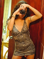 Seductive transsexual making pictures of herself